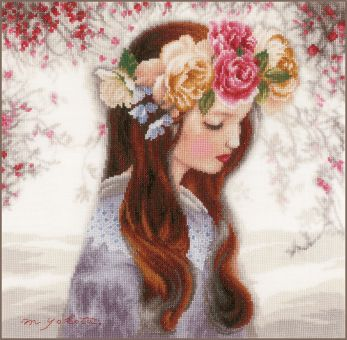"""Lanarte - COUNTED CROSS STITCH KIT """"THE DAY WHEN FLOWERS"""""""