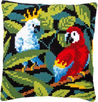Vervaco Kreuzstichkissen - Tropische Vögel