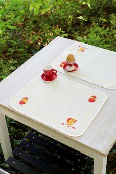 Super SALE Vervaco -Tischset 2 Platzdeckchen Kücken