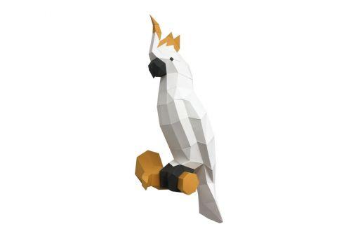 Wizardi 3D Papercraft Bastelpackung - COCKATOO