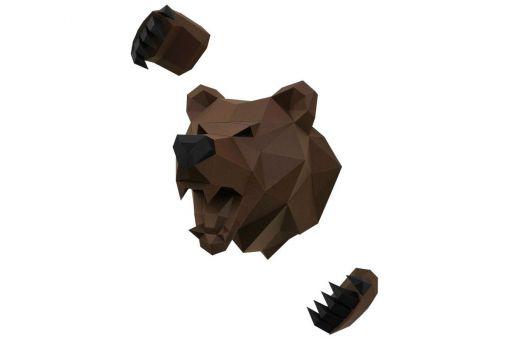 Wizardi 3D Papercraft Bastelpackung  - BEAR BÄR