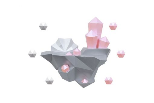 Wizardi 3D Papercraft Bastelpackung  - ISLAND INSEL