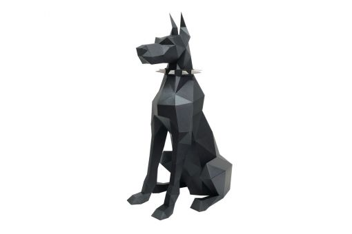 Wizardi 3D Papercraft Bastelpackung - DOBERMAN