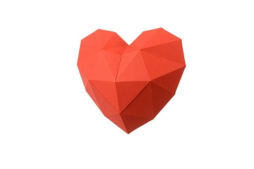 Super SALE Wizardi 3D Papercraft Bastelpackung - HEART