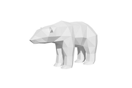 Wizardi 3D Papercraft Bastelpackung - POLAR BEAR
