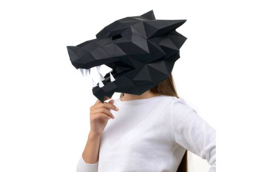 Wizardi 3D Papercraft Bastelpackung - Wolf