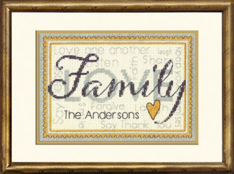 Dimensions - Family (mit Alphabet für Ihren Namen)