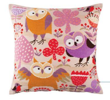 RTO Kreuzstichkissen - Wise Owls