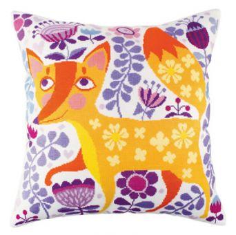 RTO Cross stitch cushion - Foxy Beauty