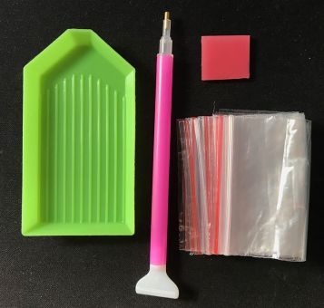 Set of Pen, little box wax pad and little plastic bags