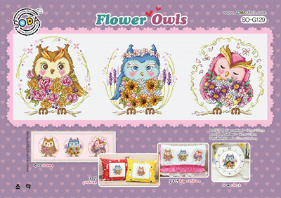 Soda Stitch - FLOWER OWLS