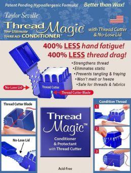 Neu! Der beste Garnwachs jetzt mit  Fadenschneider - Thread Magic Square with Thread Cutter