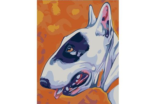 Paint by Numbers kit - BULL TERRIER