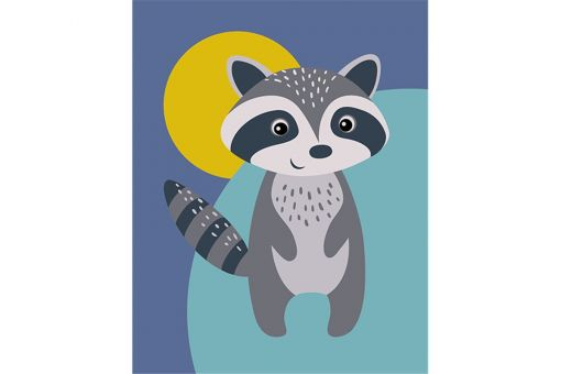 Paint by Numbers kit - RACOON