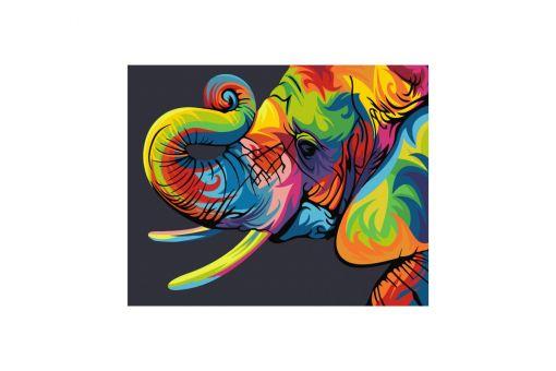 Malen nach Zahlen - RAINBOW ELEPHANT