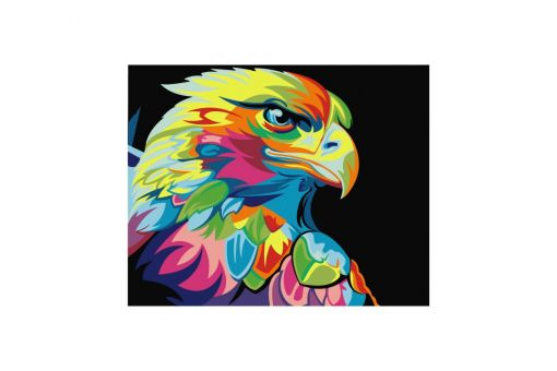 Malen nach Zahlen - RAINBOW EAGLE