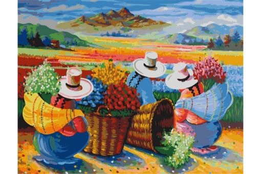 Malen nach Zahlen - COLLECTING FLOWERS IN PERU