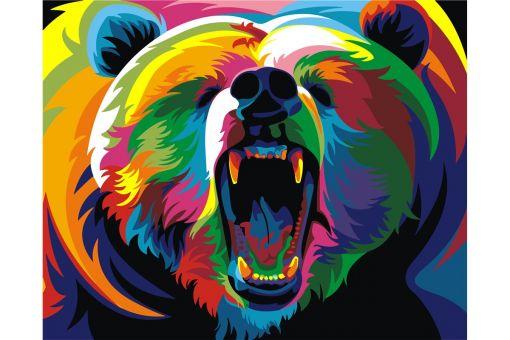Malen nach Zahlen - RAINBOW BEAR