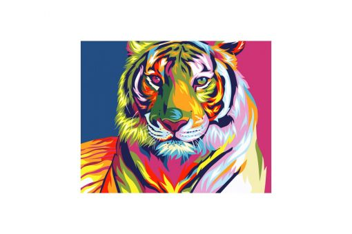 Malen nach Zahlen - RAINBOW TIGER