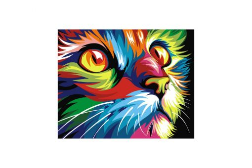 Malen nach Zahlen - RAINBOW CAT