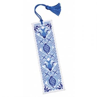 Textile Heritage - Delft Blue Bookmark