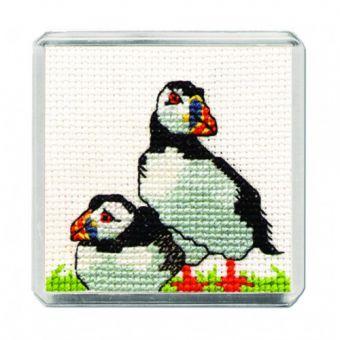 Textile Heritage - Puffin Fridge Magnet