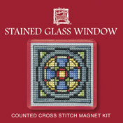 Textile Heritage - Stained Glass Window Magnet