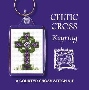 Textile Heritage - Celtic Cross Schlüsselanhänger