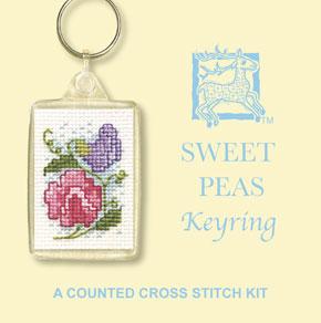 Textile Heritage - Sweet Peas Schlüsselanhänger