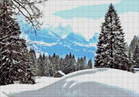 Tokarewa Perlenstickerei - WINTER