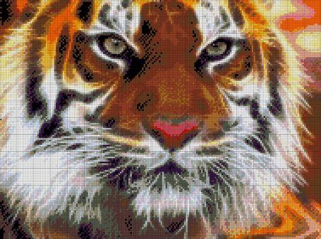 Tokarewa Perlenstickerei - AMUR TIGER