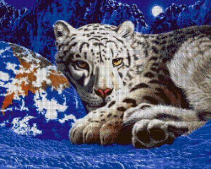 Tokareva bead embroidery - STELLAR LEOPARD