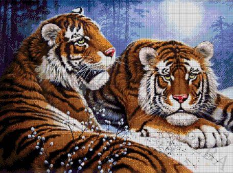 Tokareva bead embroidery - PAAR VON TIGERN