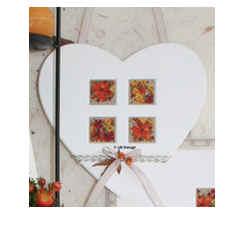 UB-Design - Deko-Passepartout Herz mit 4 Ausschnitten