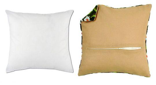 Super SALE Vervaco Set 1x Kissenrücken mit Reißverschluss 45 x 45 cm und 1 x Füllkissen