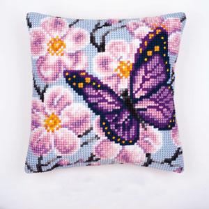 Vervaco Kreuzstichkissen - Schmetterling