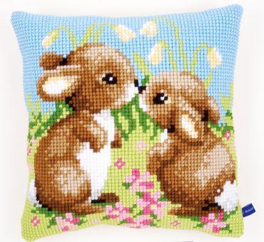 Vervaco Kreuzstichkissen - Kaninchen
