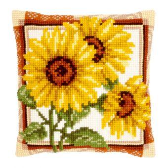 Vervaco Kreuzstichkissen - Sonnenblumen