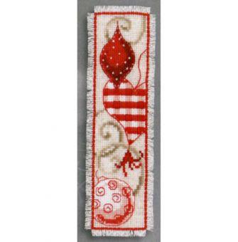 Vervaco - Rote Weihnachtskugeln