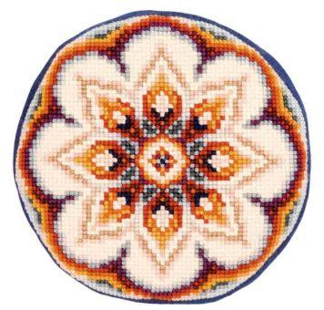 Vervaco Kreuzstichkissen - PN-0144831 - Geometrische Blume