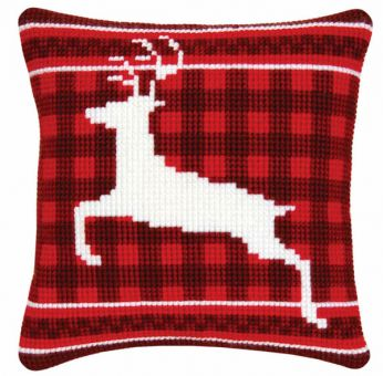 Vervaco Cross Stitch Cushion - PN-0145586 reindeer