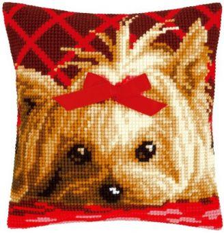 Vervaco Kreuzstichkissen - Yorkshire Terrier