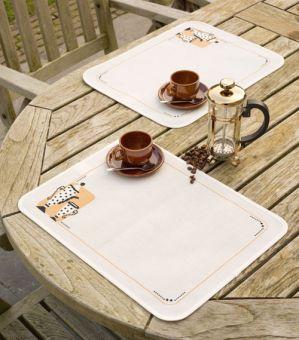 Super SALE Vervaco - Tischset 2 Platzdeckchen Kaffee