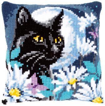 Vervaco Kreuzstichkissen - Katze der Nacht PN-0148218