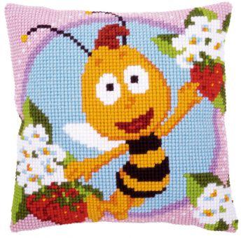 Vervaco Kreuzstichkissen - Biene Maja Willi