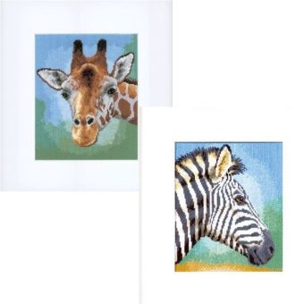 Vervaco - Giraffe and Zebra