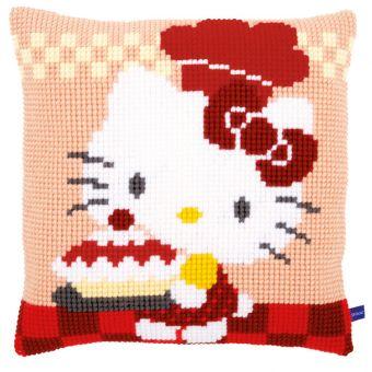 Vervaco Kreuzstichkissen Hello Kitty - Kuchen backen