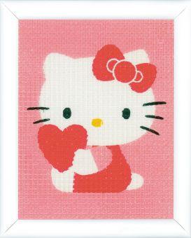 Vervaco - Kinderstickpackung Hello Kitty Herz