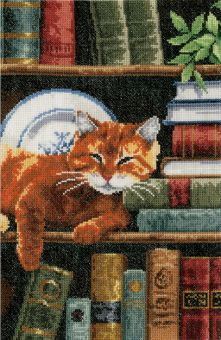 Vervaco - CAT ON BOOKSHELF