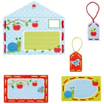 Vervaco - Stickkarten Einladung Äpfel 5er Set